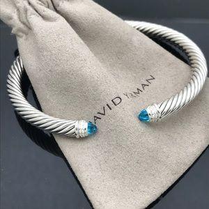 David YurmanBleu Topaz Diamond Cable Bracelet